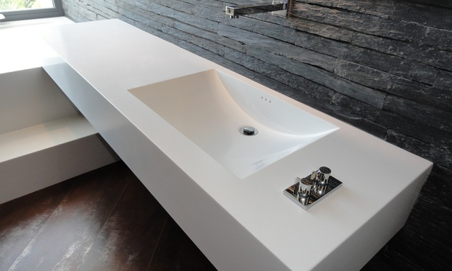 Столешницы в ванную из камня